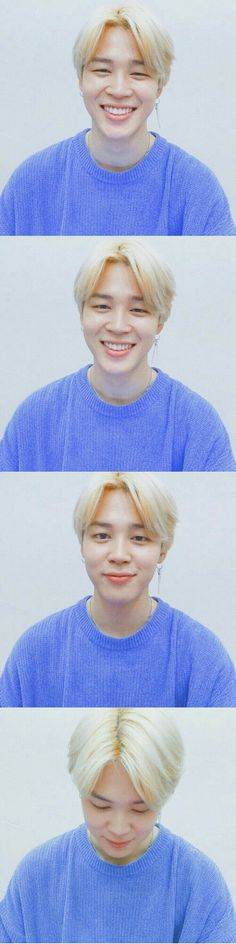 Jimin looking all soft in that blue sweater got my heart like ❤️