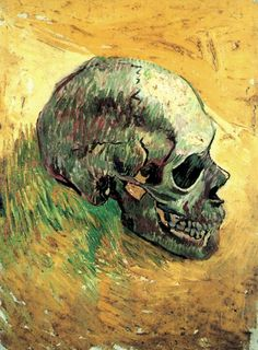 Oh my gosh! My favorite artist and my favorite subject! I need to find this. Vincent van Gogh - Skull (1888)