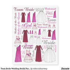 Team Bride Wedding Bridal Party Bridesmaid Tattoos