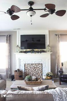 DIY Faux Fireplace f