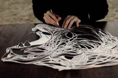 Max Gärtner is a man with seriously good cutting skills. And an amazing talent for line work. He draws the heads of bears, tigers, birds, wolves and humans with an incredible intricacy. The Berlin based illustrator transforms hundreds of pencil-drawn lines into interwoven, floating stencils an