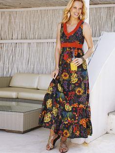 SavoirPrinted Maxi Dress
