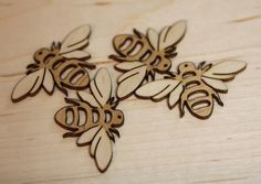 Laser cut and engraved bees - In A Flash Laser
