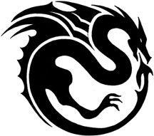 Winged Dragon Tribal Tattoo
