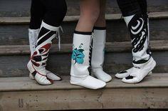 boots, Cree Nisga'a Clothing - fyeahindigenousfashion