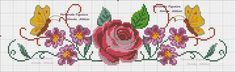This Pin was discovered by Neb Butterfly Cross Stitch, Cross Stitch Rose, Bordados E Cia, Cross Stitching, Cross Stitch Patterns, Charts, Birds, Embroidery, Floral