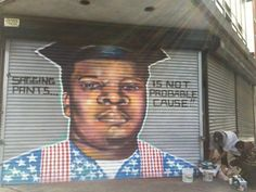 Police Destroy LEGALLY Painted Mural of Mike Brown, Because It 'Sent the Wrong Message'