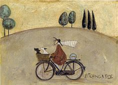 Hitching a Ride - Sam Toft Illustrations, Illustration Art, Naive Art, Aboriginal Art, Sculpture, Dog Art, Cute Art, Art Pictures, Art Photography