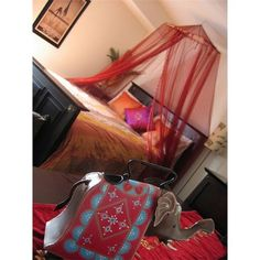 bohemian bed - you can make the canopy from a hula hoop-