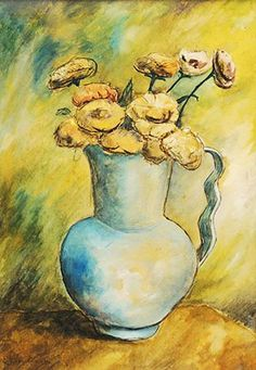 Vaso com flores, 1940 Clóvis Graciano (Brasil, 1907-1988) óleo sobre cartão colado em eucatex, 38 x 26 cm