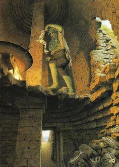 "Roberto Innocenti's illustrations of  the tale by Carlo Goldoni's ""Pinocchio""."