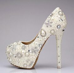 Bling Wedding shoes unique wedding shoes and crystal bridal shoes in handmade-Free gift for you