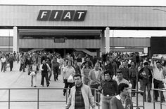 Migrants workers in Fiat's factory