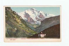 Interlaken Hotel Jungfraublick  Jungfrau Switzerland Vintage Postcard UDB
