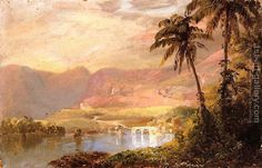 Tropical Landscape Frederic Edwin Church Reproduction | 1st Art Gallery