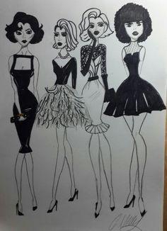 #60's #models #cagilmemis #dress #skirt