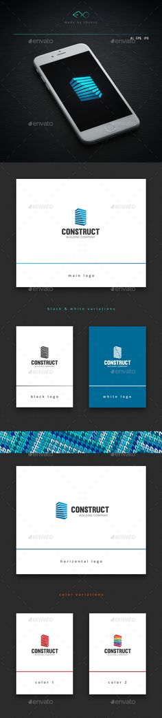 Construct Logo Template Vector EPS, AI #design #logotype Download: http://graphicriver.net/item/construct/14366611?ref=ksioks