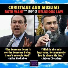 CHRISTIAN EXTREMISTS AND MUSLIM EXTREMISTS...BOTH DETERMINED TO IMPOSE THEIR RELIGIOUS IDEOLOGY AT ANY COST, INCLUDING THE LOSS OF INNOCENT LIVES.