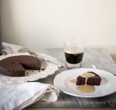 Warm Chocolate Pudding Cake with Caramel Creme Anglaise, Day 4: Irene's Beans - A Stack of Dishes