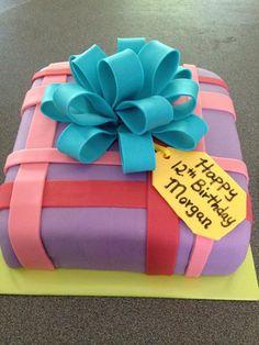 Present cake by www.dkscakes.com