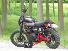 A very mean-looking Triumph Scrambler—and check those tires!