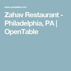 Zahav Restaurant - Philadelphia, PA | OpenTable