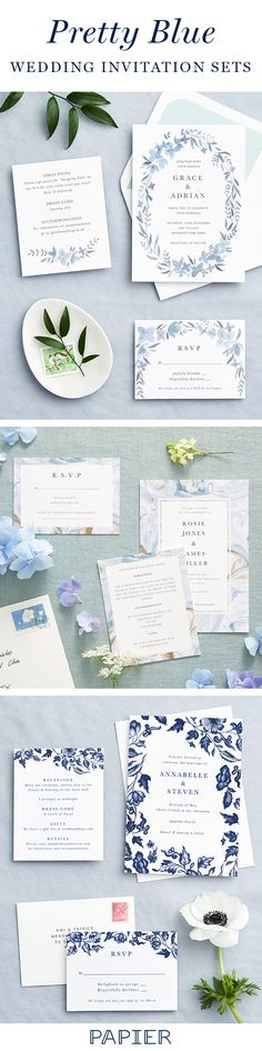 Discover the perfect blue wedding stationery for your special day
