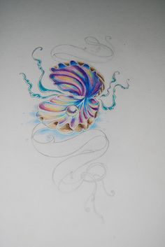 Seashell tattoo flash | Flickr - Photo Sharing!