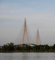 Cần Thơ Bridge, Hậu River, Mekong River, Cần Thơ, Vietnam