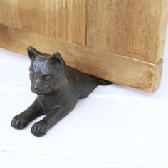 Cast Iron Cat Door Stop - home