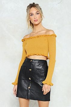 Knit for the Faint Hearted Crop Top