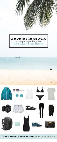 2 Months in SE Asia: A Complete Packing List for the Guest House Traveler – The Overseas Escape