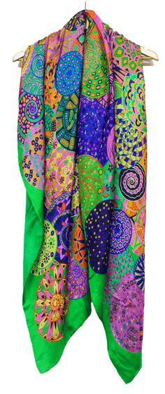 chal fulares de seda XL Hecho en España Julunggul. Complementos de seda www.julunggul.com