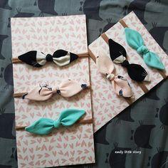 Emily little story: opaska dla niemowlaka bow, headband