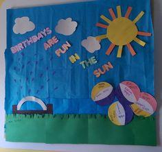 Summer themed Birthday Board