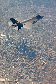F-35A over Los Angeles