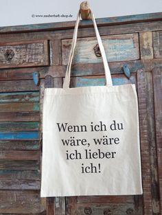 Jutebeutel mit Spruch // quote tote bag via DaWanda.com