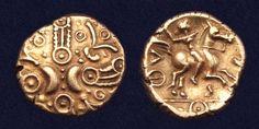 Celtic Gold Stater Minted by Tasciovanus, Catuvellauni