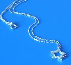 Sterling Silver Diamond Look Zirconia Star Necklace by Afilly D'sign on Etsy, $32.90