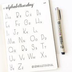 #alphabettuesday week 8! ▫️▫️▫️▫️▫️▫️▫️▫️ I did something very simple for today's #AlphabetTuesday. I received a few messages requesting this font so here it is ▫️▫️▫️▫️▫️▫️▫️▫️ Quelque chose de très simple cette semaine. J'ai reçu plusieurs messages me demandant cet alphabet donc je m'exécute ▫️▫️▫️▫️▫️▫️▫️▫️ SUPPLIES / MATÉRIEL ~ Notebook : Leuchtturm1917 A5, dotted ~ Black pen : Pigma Micron (02) ▫️▫️▫️▫️▫️▫️▫️▫️ #bulletjournal #bulletjournaljunkies #bulletjournallove #b...
