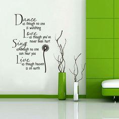 Mooie teksten geschikt voor iedere kamer. Kijk snel op www.hippemuurstickers.nl