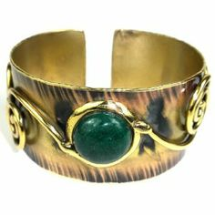 Green Jade Swirl Cuff Bracelet (South Africa) Global Crafts. $44.00