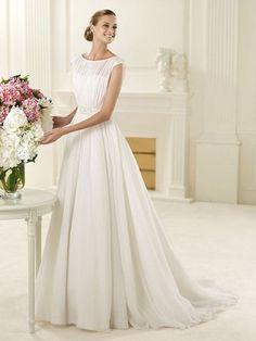 Blanche-Vestido de Noiva em tecido de seda - dresseshop.pt