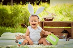 baby easter photo shoot