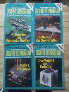 GEISTERJÄGER - JOHN SINCLAIR! 4 x versch. alte Romane!2. Auflage!