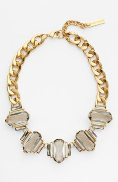 A statement piece for fall. Love the sparkly crystals on this Ralph Lauren necklace.