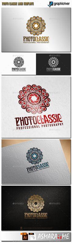 File Description Photo Classic is Stylish Professional Photography Logo, fashionable, royal, luxury, elegant, and professional log