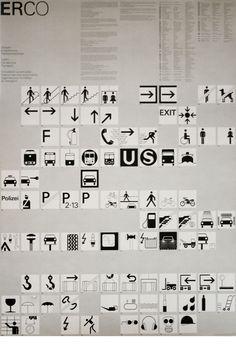 Otl Aicher / ERCOO universal symbols/directions