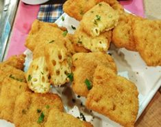 Croquetas de fideos y queso