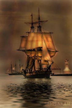 capnhbarbossa:  Tall Ship by SemiSarah on Flickr.